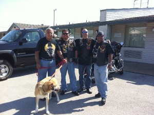 Libby and Latin American Motorcycle Association Bikers