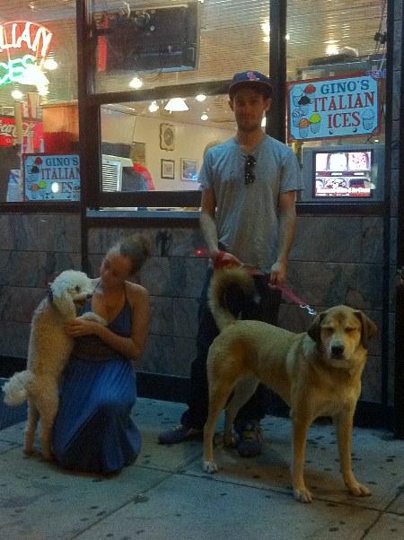 Trash Dog, Bridgette, Pat and Libby