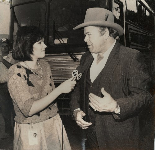 ean interviews Roy Clark, NM State Fair, ABQ, 1986