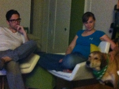 Nate, Melissa and Libby, chillin in LA