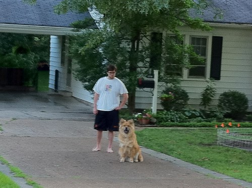 Sean and Louie the Dog