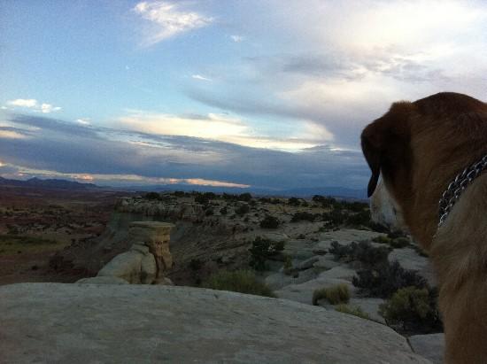 Desert sky at sunset - Castle Valley, Utah