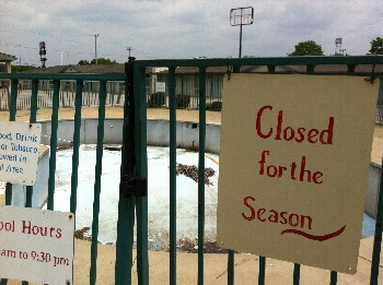 Pool Closed for the Season
