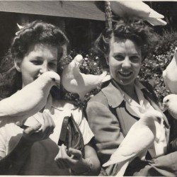 My Mom, Beverly Waddell, With a Bird On Her Head, circa 1944